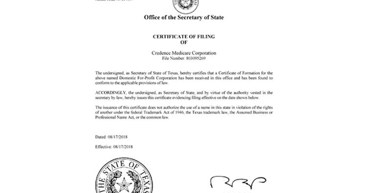 Credence Medicare Corporation